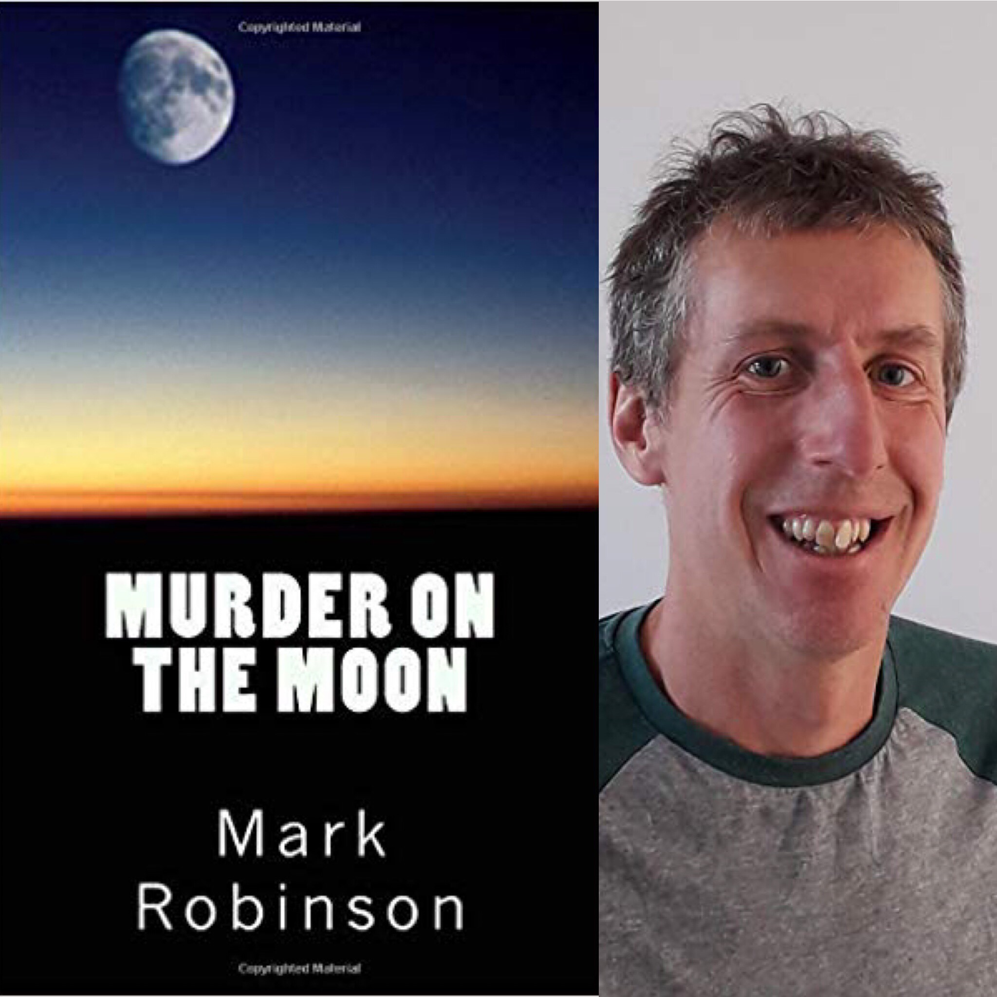 Murder on the moon by Mark Robinson book cover