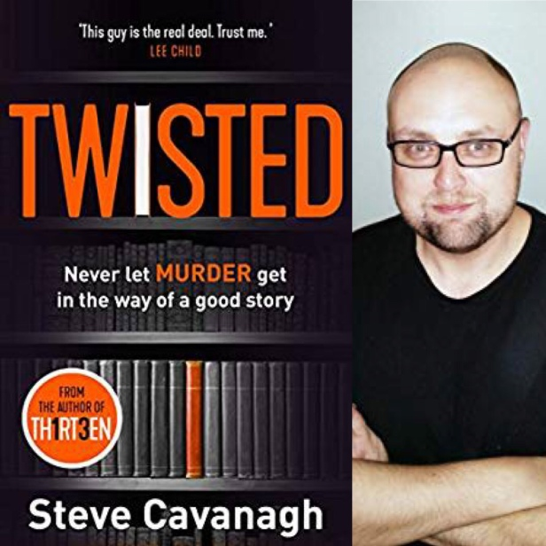 Twisted by Steve Cavanagh, book cover and author photo
