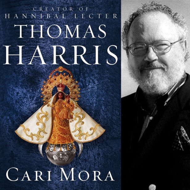 Cari Mora by Thomas Harris book cover and author photo
