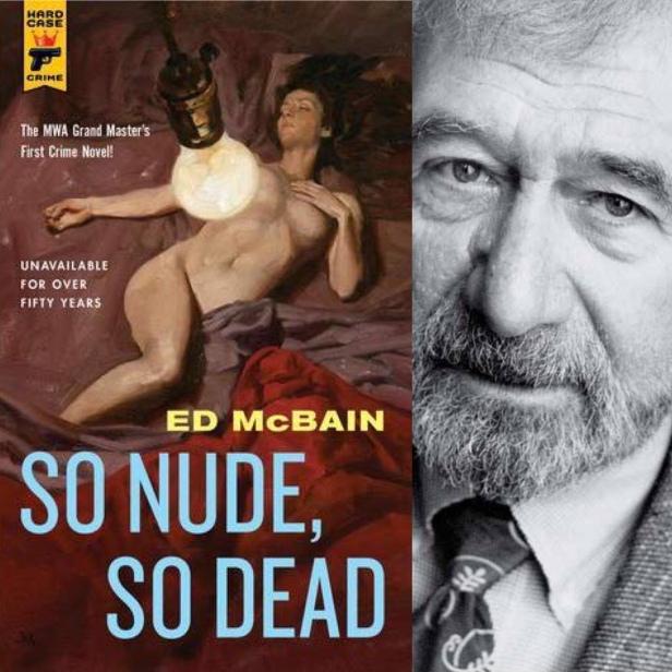 So nude so dead ed McBain book cover and author photo