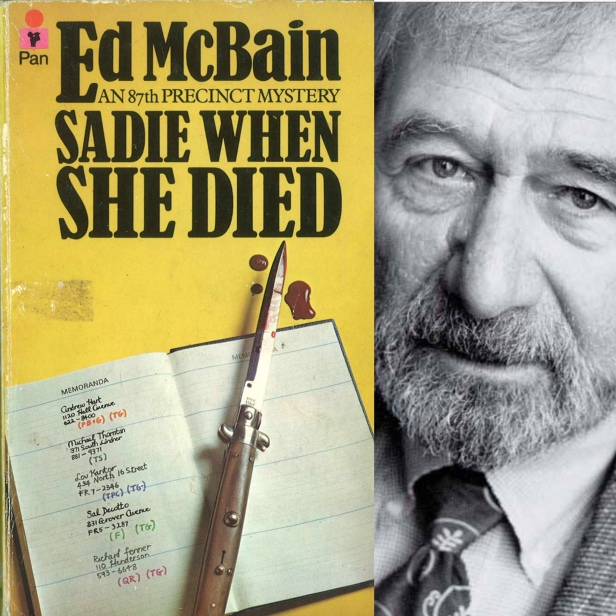 Sadie when she died by med McBain book cover and author photo